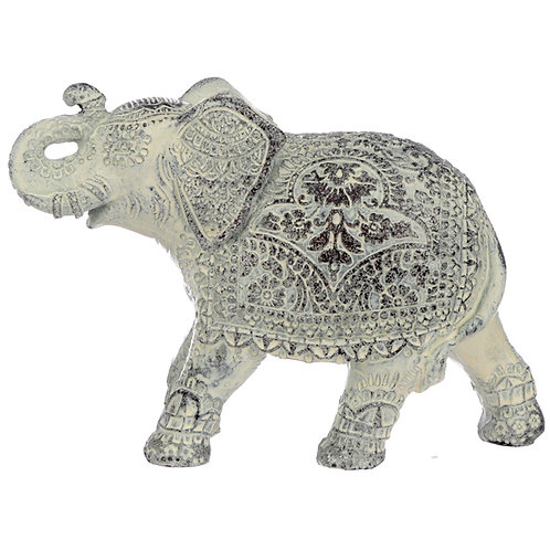 Decorative Thai Brushed White Small Elephant Novelty Gift