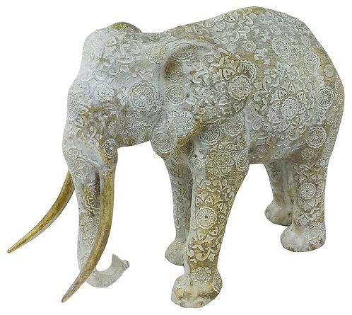 Mandala Carved Elephant Shipping furniture UK