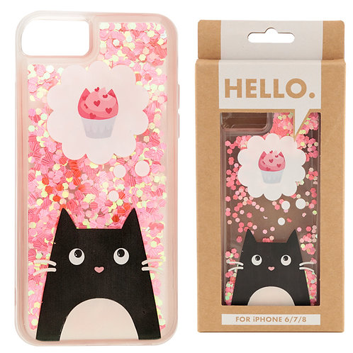 iPhone 6/7/8 Phone Case - Feline Fine Cat Cupcake Design Novelty Gift