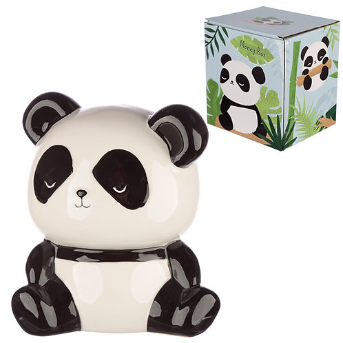 Collectable Ceramic Panda Shaped Money Box Novelty Gift