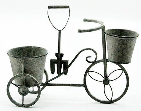 Lead Colour Bicycle Planter 40cm Shipping furniture UK