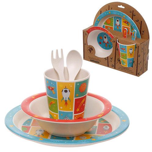 Bamboo Composite Space Kids Dinner Set Novelty Gift