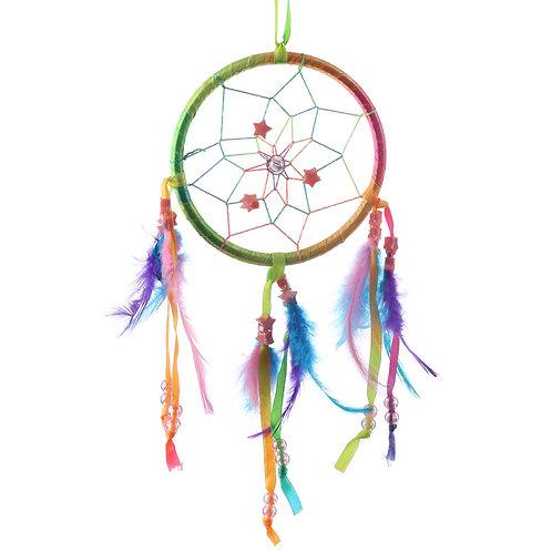 Small Decorative Rainbow Dreamcatcher Novelty Gift