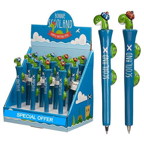 Fun Nessie Scottish Novelty Pen Novelty Gift [Pack of 2]