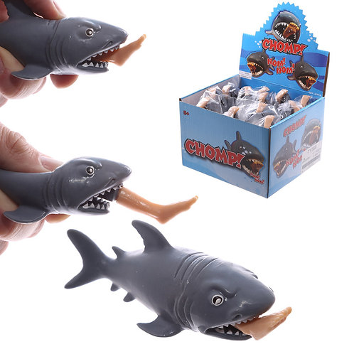 Fun Kids Chompy Shark with Pop Out Surfer Leg Toy Novelty Gift