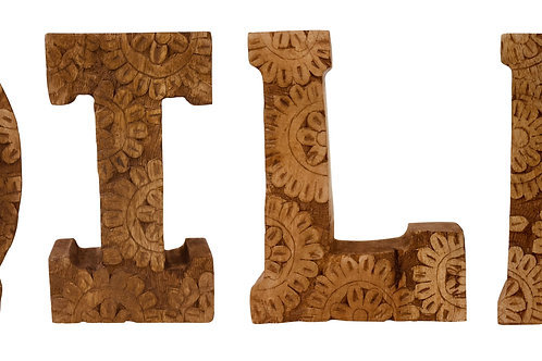 Hand Carved Wooden Flower Letters Toilet Shipping furniture UK