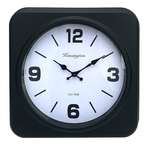 Square Black Clock Shipping furniture UK