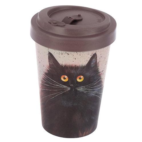 Bamboo Composite Kim Haskins Cat Screw Top Travel Mug Novelty Gift