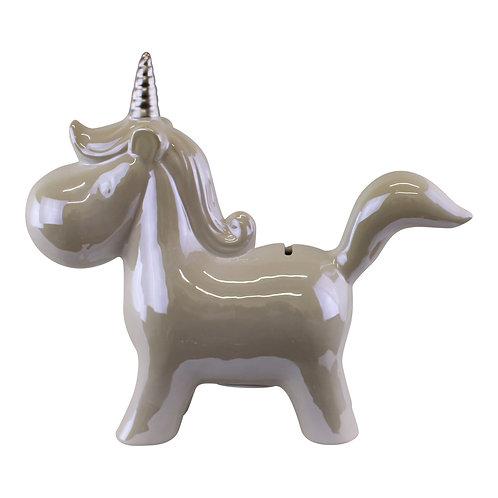 Pearlised Ceramic Unicorn Money Box Shipping furniture UK