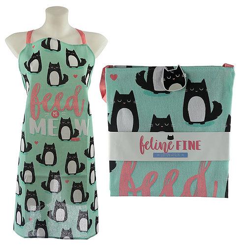 Fun Cat Design Poly Cotton Apron Novelty Gift