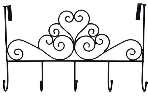 Black Scroll Over Door 5 Hooks Shipping furniture UK