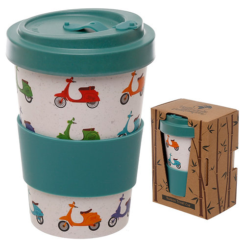 Bamboo Composite Scooter Screw Top Travel Mug Novelty Gift