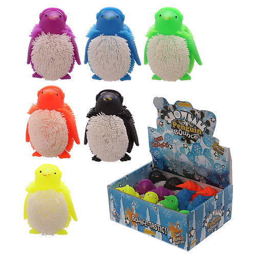 Novelty Gift Fun Kids Light Up Squidgy Penguin Puff Pet [Pack of 2]