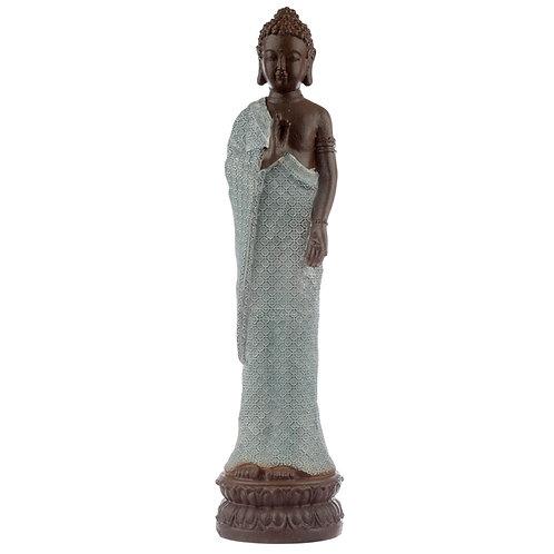 Decorative Turquoise & Brown Buddha Figurine - Serenity Novelty Gift