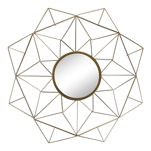 Gold Wire Geometric Design Mirror Shipping furniture UK
