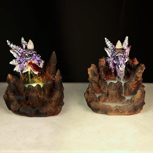 Fantasy LED Backflow Incense Burner - Purple Dragon Novelty Gift