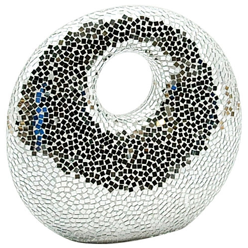Silver Mosaic Ornament 40cm Shipping furniture UK