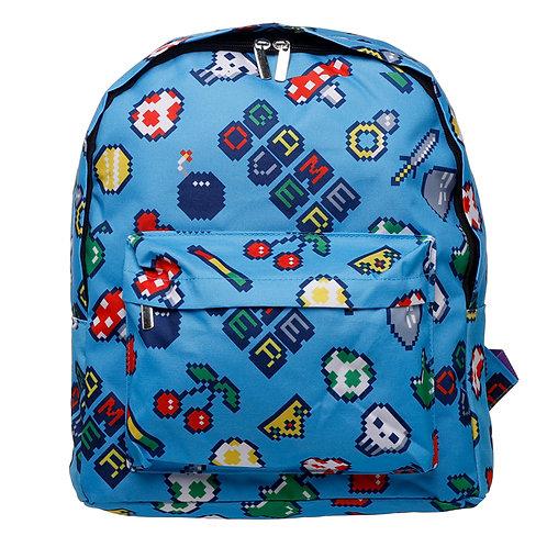 Kids School Rucksack/Backpack - Retro Gaming Design Novelty Gift