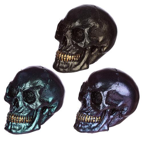 Gothic Iridescent Skull Ornament Novelty Gift