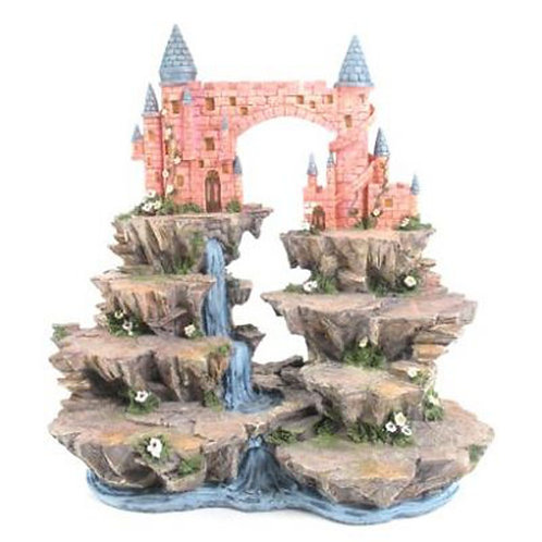 Fantasy Castle Mountain Tiered Display Stand Novelty Gift