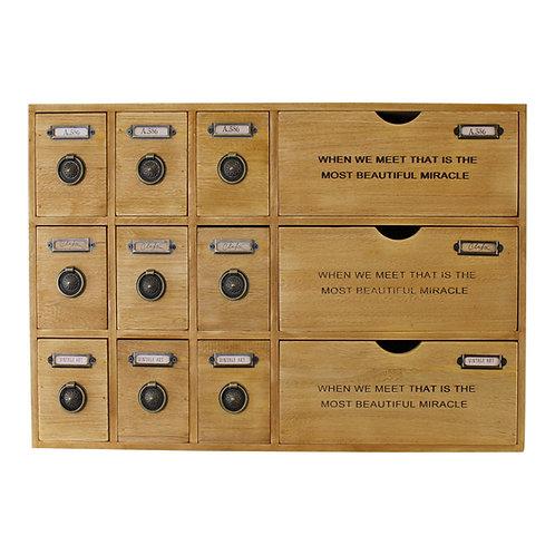 12 Drawer Rustic Storage Unit, Trinket Drawers Shipping furniture UK