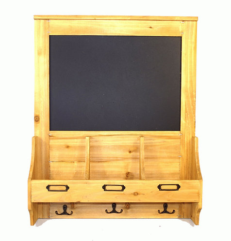 Chalkboard with hooks and Post Space 47 x 10 x 59cm Shipping furniture UK