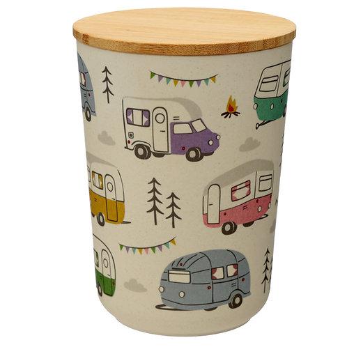 Medium Bamboo Composite Storage Jar Wildwood Caravan Novelty Gift