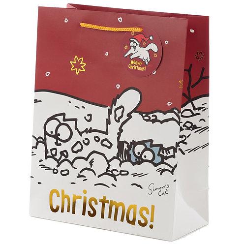 Simon's Cat Christmas 2020 Large Gift Bag [Pack of 2] Novelty Gift