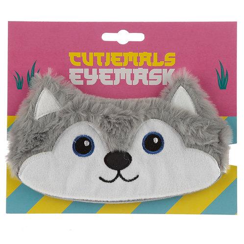 Fun Eye Mask - Plush Husky Dog Novelty Gift