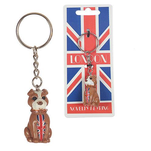 Fun Novelty London Bulldog Keyring Novelty Gift