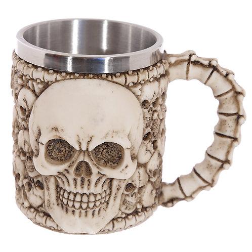 Gothic Skull Decoration Decorative Multi Skull Tankard Novelty Gift