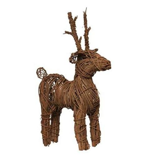 Standing Rattan Reindeer 56cm | Florist Sundries Supplies and Events UK