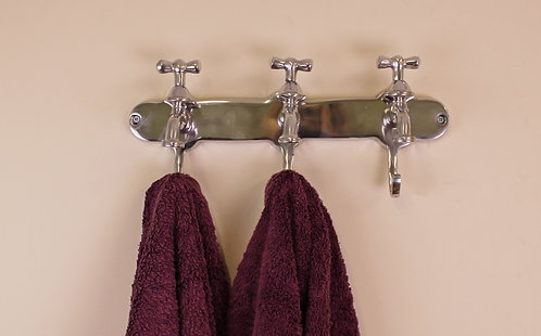 Towel Holder, Three Hooks With Tap Desgin Shipping furniture UK