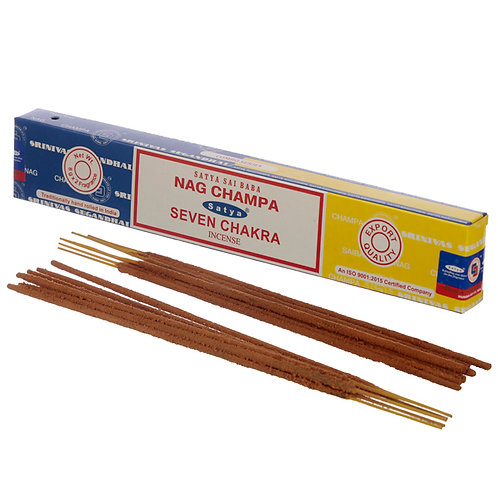 Satya Incense Sticks - Nag Champa & Seven Chakra Novelty Gift
