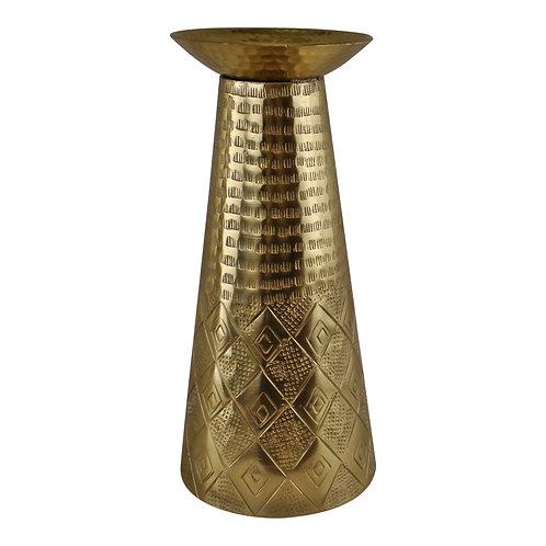 Large Gold Metal Moroccan Style Kasbah Candle Holder  Shipping furniture UK
