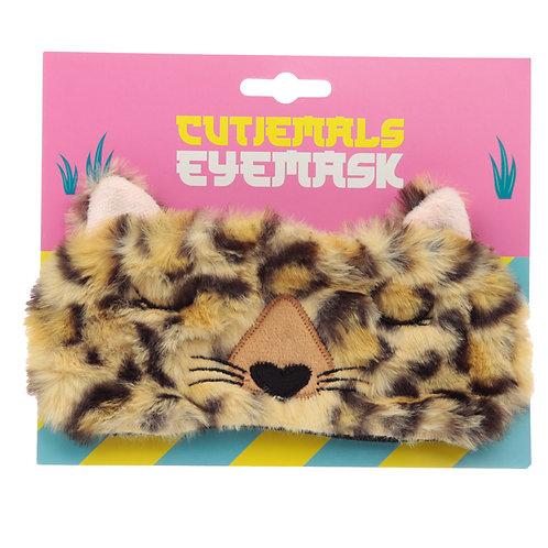 Fun Eye Mask - Plush Cutiemals Leopard Novelty Gift