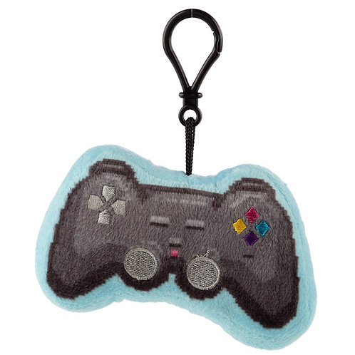 Novelty Video Gaming Plush Game Controller Sound Keyring