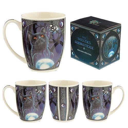 The Witches Apprentice Cat Lisa Parker Porcelain Mug Novelty Gift