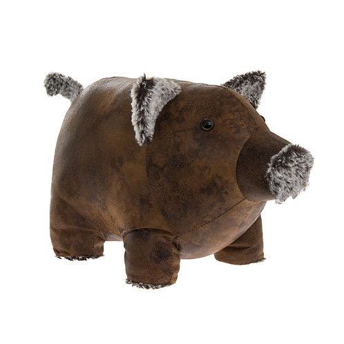 Faux Leather Piggy Doorstop Shipping furniture UK
