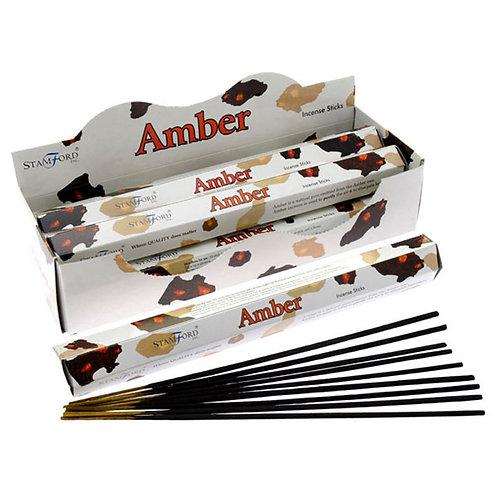 Stamford Hex Incense Sticks - Amber Novelty Gift