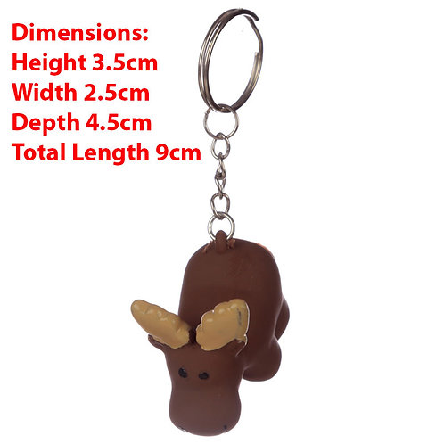 Novelty  Collectable Pooping Moose Keyring Gift