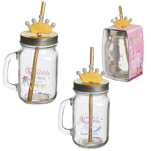 Novelty Princess Drinking Jar Gift Set
