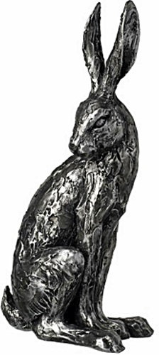 Distressed Silver Looking Hare Ornament 29cm Shipping furniture UK