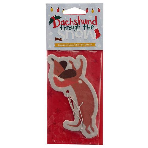 Christmas Dachshund Cinnamon Scented Air Freshener Novelty Gift