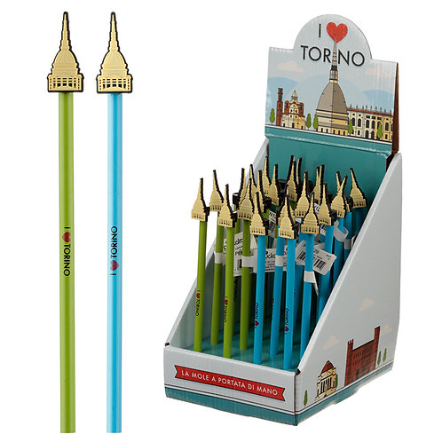 Novelty Torino Mole Pencil with PVC Topper Novelty Gift