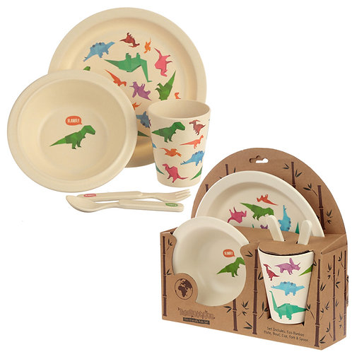 Bamboo Composite Dinosaur Kids Dinner Set Novelty Gift