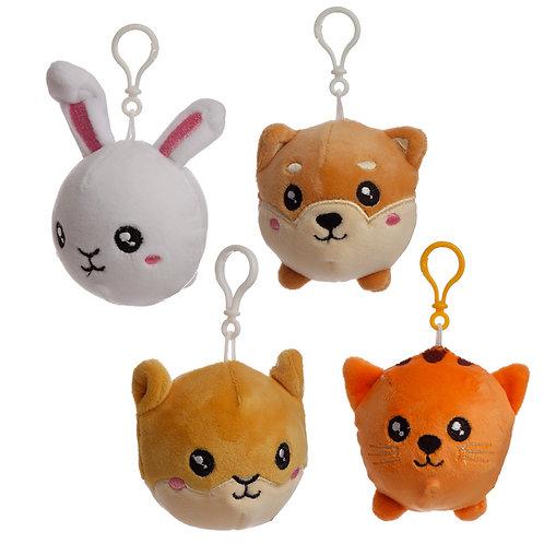 Squishy Cuddlies Cute Keyring - Pets Novelty Gift
