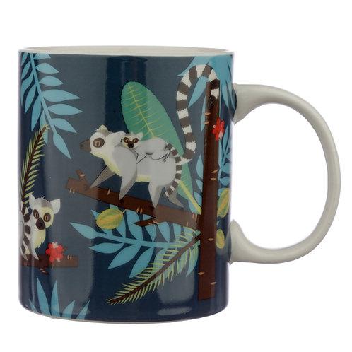 Collectable Porcelain Mug - Spirit of the Night Lemur Novelty Gift