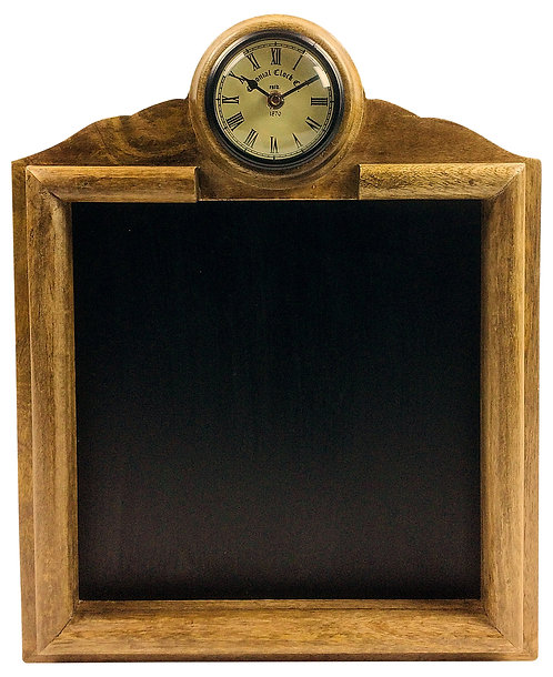 Wooden Blackboard With Clock Shipping furniture UK