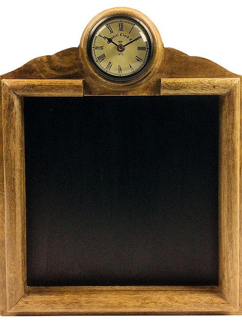 Wooden Blackboard With Clock Shipping furniture UK